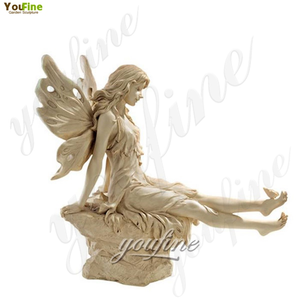 Life Size Marble Sculptures Winkle Toes Fairy Statue Garden Decoration for Sale MOKK-210
