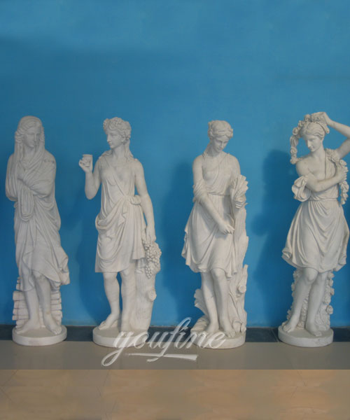 Classic Design Outdoor Garden Marble Four Season Statues for decor