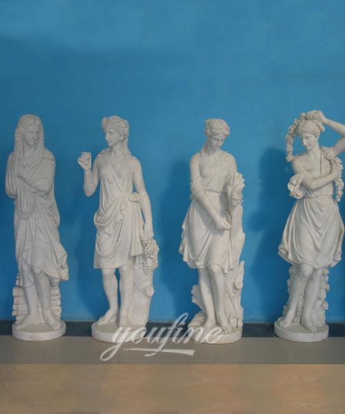 Classic Design Outdoor Garden Marble Four Season Statues for decor