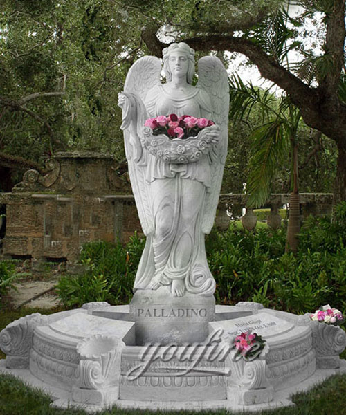 European Monument Hand Carved european style marble angel headstones