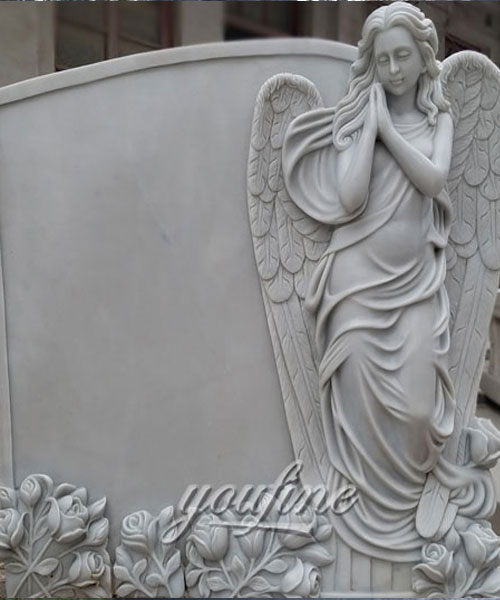 European Monument life size marble angel headstones for sale