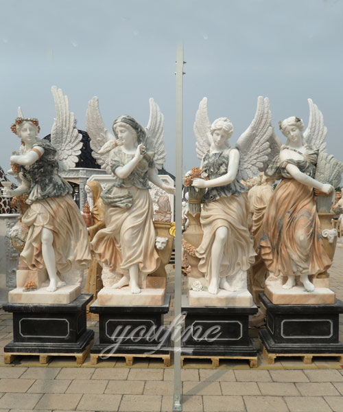 Factory Price Four Season Women Statues with wing for garden decor