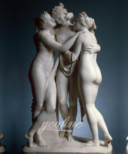 Famous Western Marble Three Graces Lady Statue for garden sale