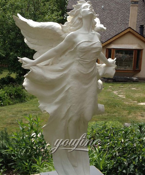 Famous flying marble angels statues for garden