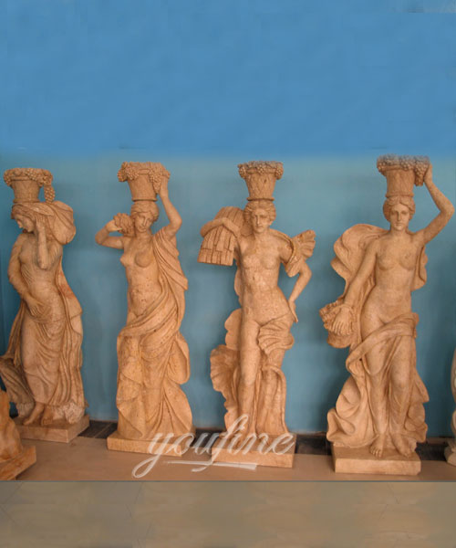 Four season goddess life size marble statues for garden decor on selling
