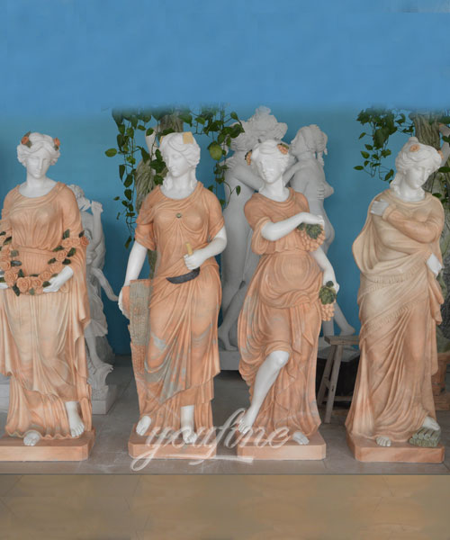 Garden Beautiful Four Season Ladies marble for outdoor decor on stock
