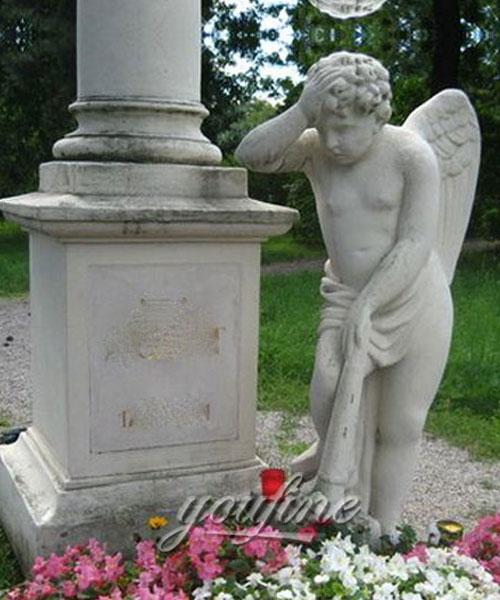 Grave decoration cherub statue for sale