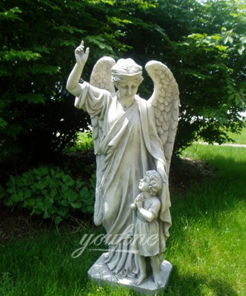 Guardian Angel Child's Prayer Garden Statue for sale