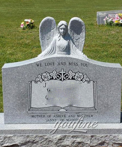 Hot selling granite angel affordable headstones for grave design
