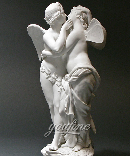 Indoor Amor und psyche statue angle in pairs for sale