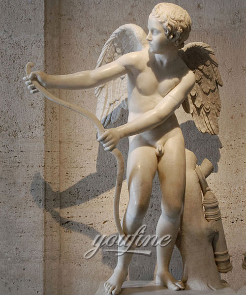 Indoor Cupid angel marble statue for home decor