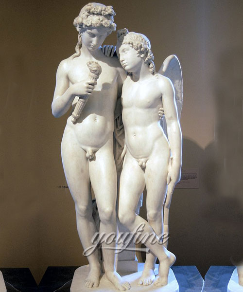 Indoor Cupid kindling the torch of Hymen for Garden decor