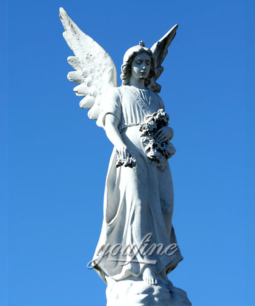 Large angel marble statue for home decor