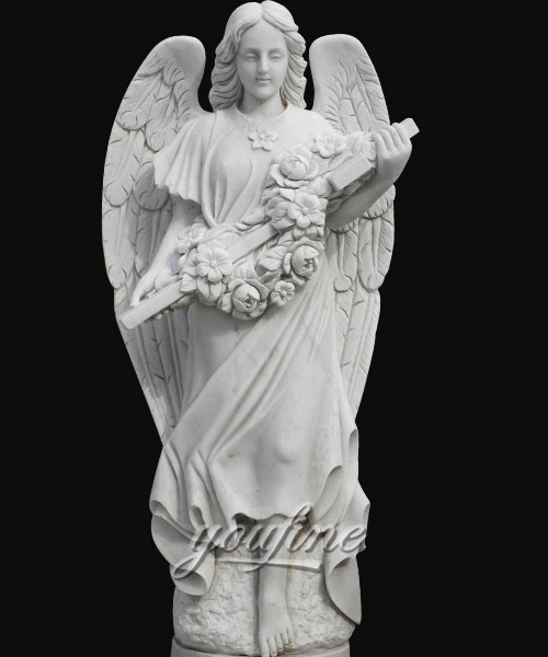 Life size angle marble statue for home decor