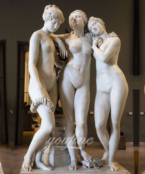 Classical Marble Three Graces Sculptures Famous Art for Sale MOKK-212