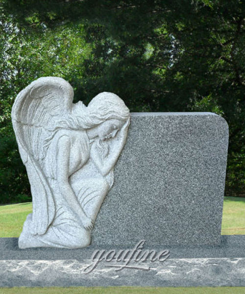 Marble Stone Carving Headstone Weeping Angel Monument