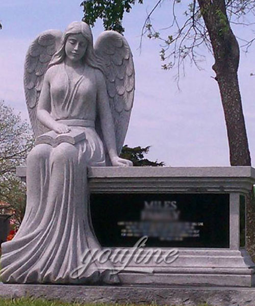 New Designs exquisite design angel burial monuments with best price for sale