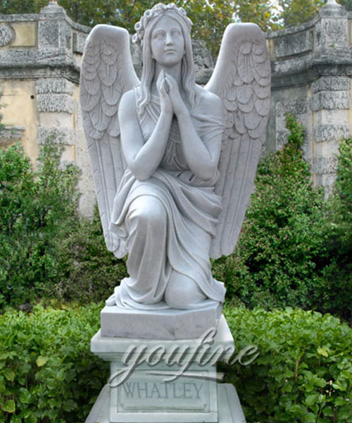 New Designs High Quality exquisite design kneeling angel monuments headstones for sale