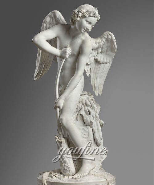 Stone life size angel marble statue for Garden