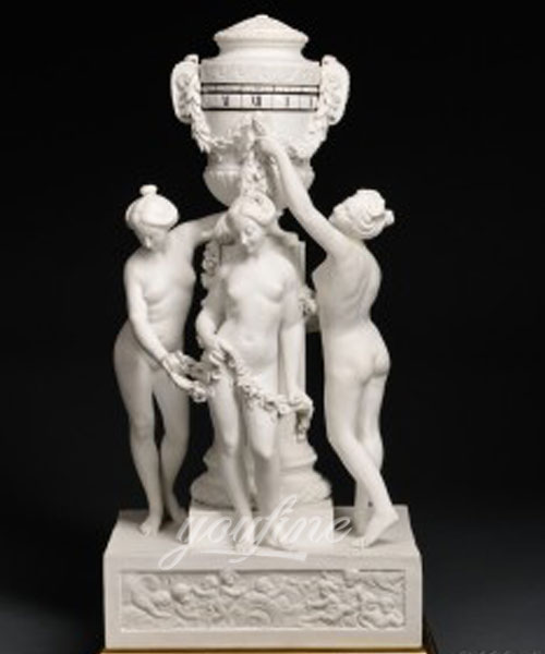 Home decor Stone three graces lady statues for sale