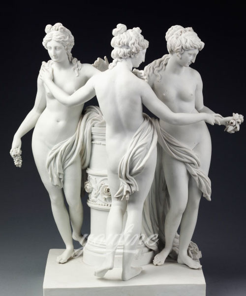 The three graces with white marble carving for garden