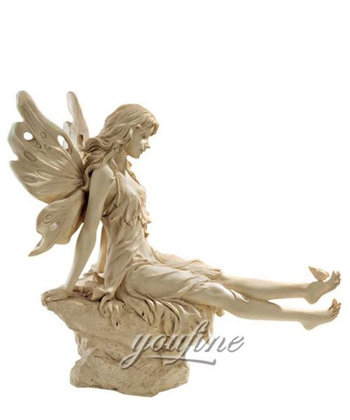 Outdoor Twinkle Toes Fairy marble Statue for sale