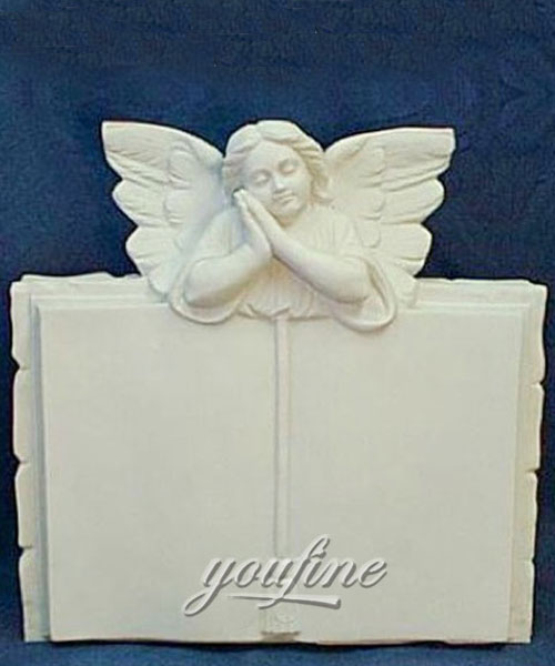 Weeping angel book shaped tombstone for sale