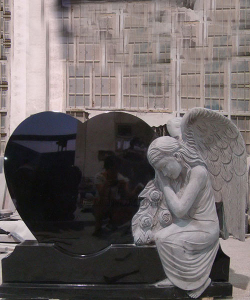 Western Granite Stone Angel Heart cemetery Monument for grave on selling