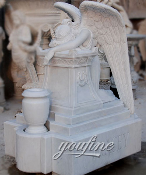 How to buy weeping angel affordable headstone with grave vase design