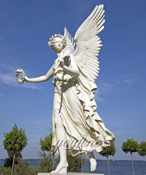 large angel statues Marble Statues for decoration