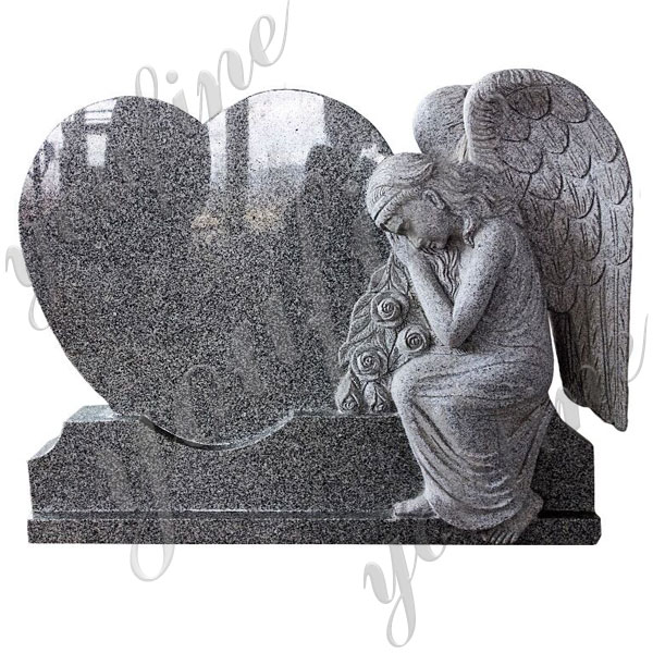 Stone praying angel with heard grave monuments design for sale