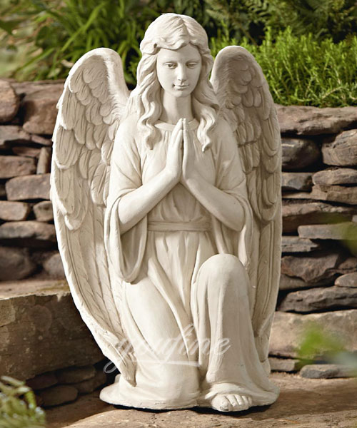 Praying marble angel garden statue for home decor