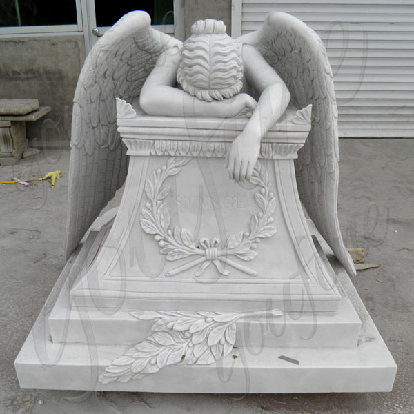 What can YouFine do for your natural marble Weeping Angel Tombstone?