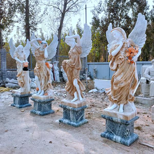 Mixed Colors Seasons Goddess Outdoor Garden Marble Statues Sale MOKK-642