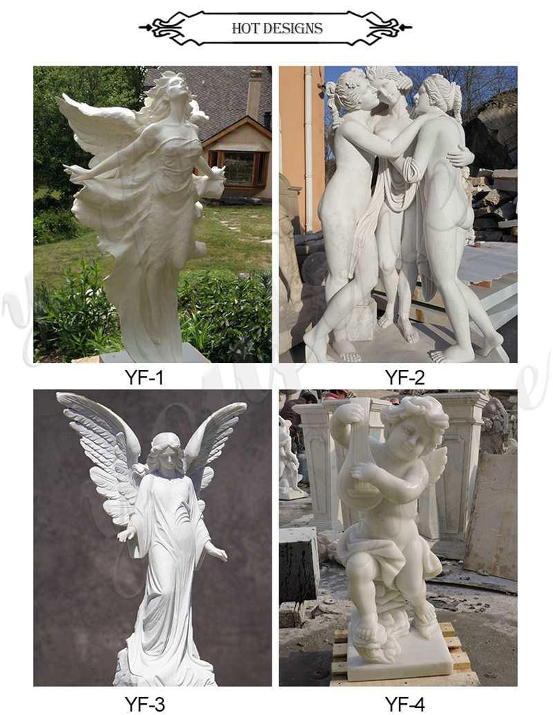 Mixed Colors Seasons Goddess Outdoor Garden Marble Statues