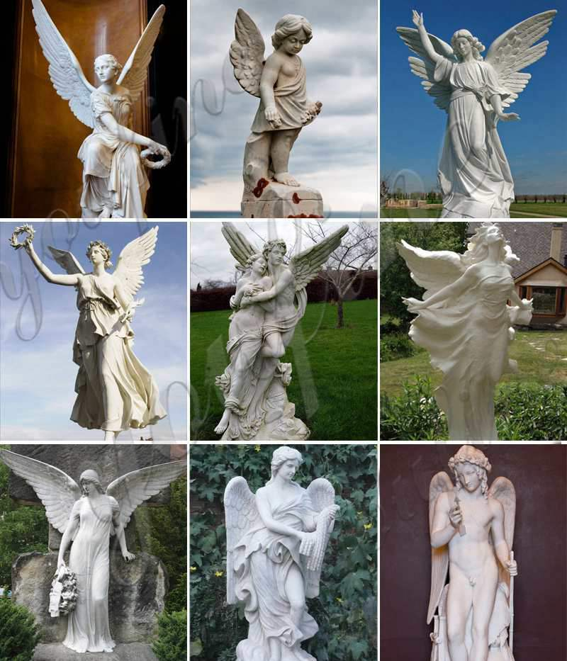 Outdoor Marble Statues Decor Life Size Stone Large Praying