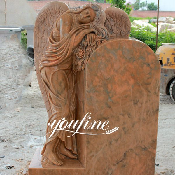 Polished Granite Stone Angel Headstone Monument Design for Sale MOKK-63