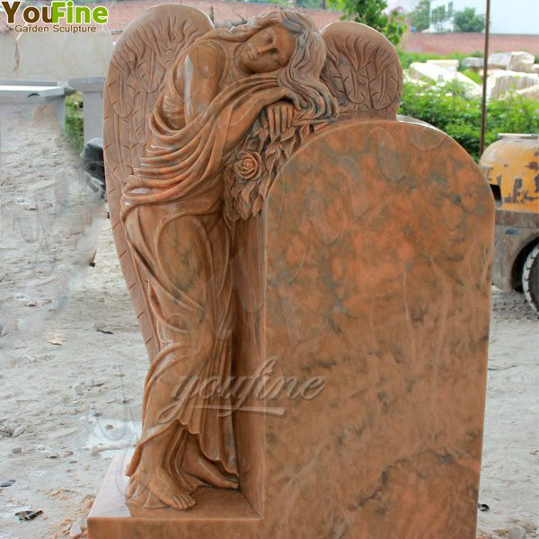 Polished Granite Stone Angel Headstone Monument Design for Sale MOKK-63