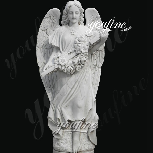 Outdoor Life Size Marble Angel Statue for Garden Ornaments BOKK-262