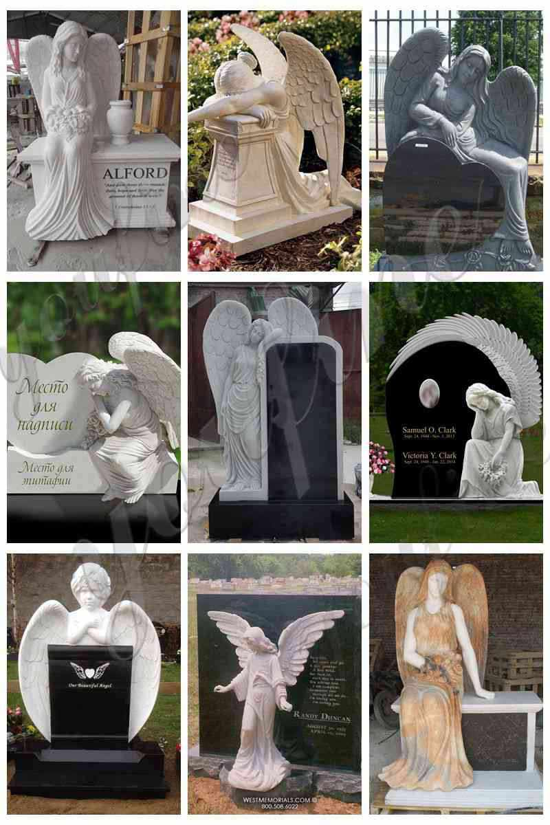 Standing Angel Sculpture Mother and children Sale Mokk-113