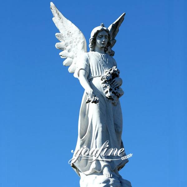 Large Avenger Angel Marble Statue for Square Ornaments MOKK-265