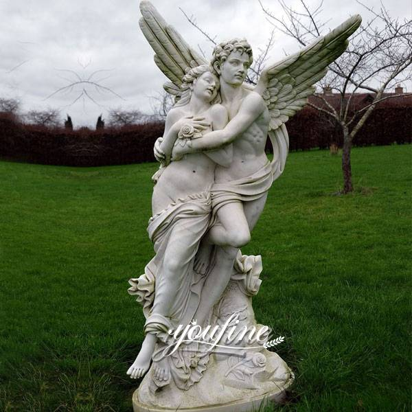 Cupid and Psyche Life Size Marble Angel Statue for Sale MOKK-297