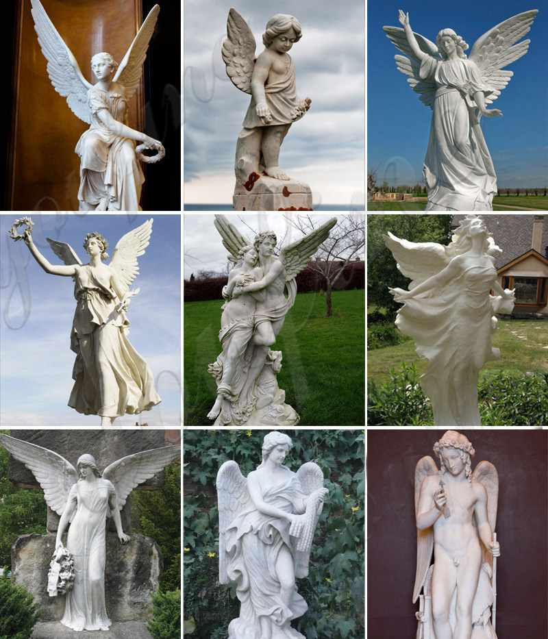 Famous Angel Marble St. Michael Angel Statue