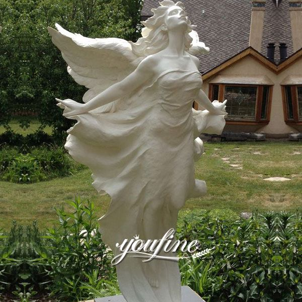 Life Size Marble Angel Statue Square Decoration for Sale MOKK-293