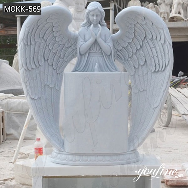 Natural Marble Angel Headstone Monument for sale MOKK-569