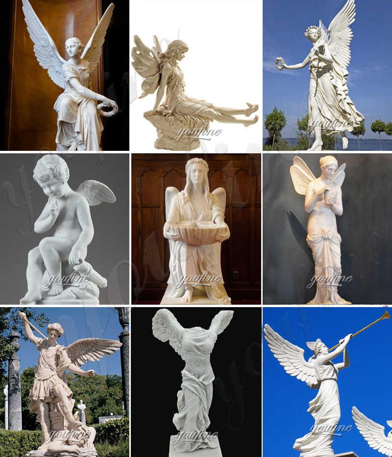 Garden Marble Angel Cupid Statues Life Size for Sale MOKK-800
