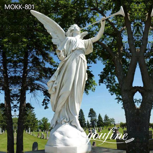 Large Marble Garden Angel Statue Cemetery for Sale MOKK-801