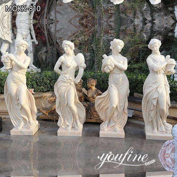 Garden Marble Statues Beige Four Seasons Goddess Sale MOKK-810