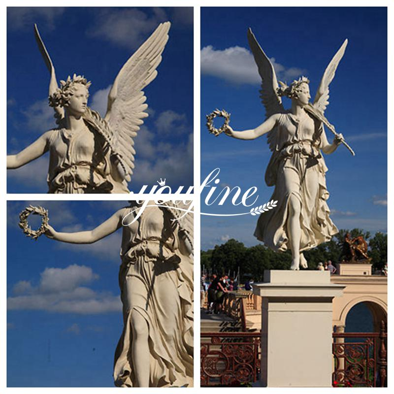 Delicate Marble Angel with Wings Statues for Garden MOKK-784