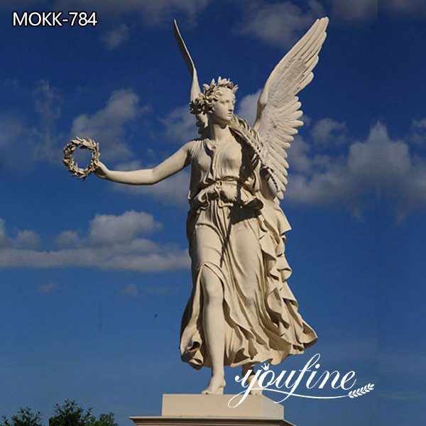 Delicate Marble Angel with Wings Statues for Garden Supplier MOKK-784
